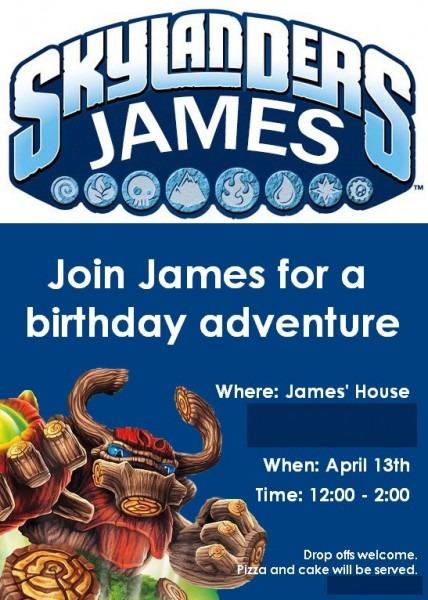 Marvelous Skylander Birthday Invitations Free Ideas For Additional