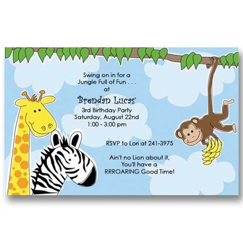 Slid Trend Zoo Birthday Invitations