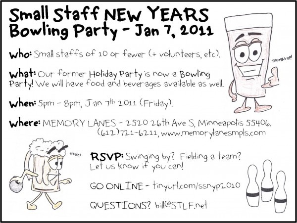 Minnesota Rising  Small Staff New Years Bowling Party!