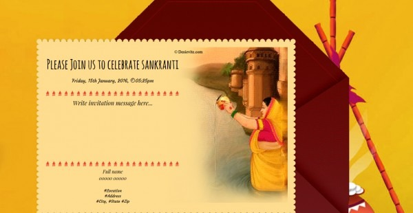 Free Makar Sankranti Invitation Card & Online Invitations