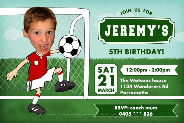 Soccer Birthday Invitations Vintage Printable Soccer Party