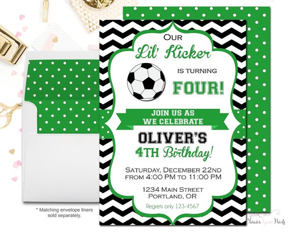 Soccer Party Invitations Soccer Party Invitations And Beautiful
