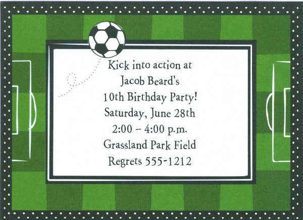 Soccer Party Invitations Soccer Party Invitations Suitable In