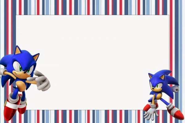 Sonic Birthday Invitations