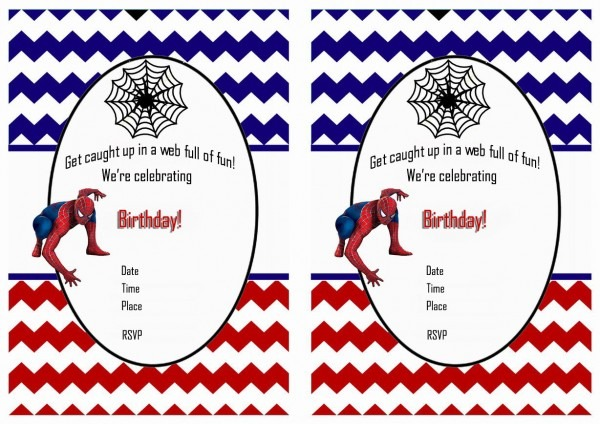 Free Printable Spiderman Birthday Invitations • Free