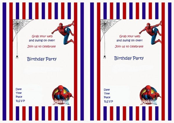Spiderman Birthday Invitations Spiderman Birthday Invitations And