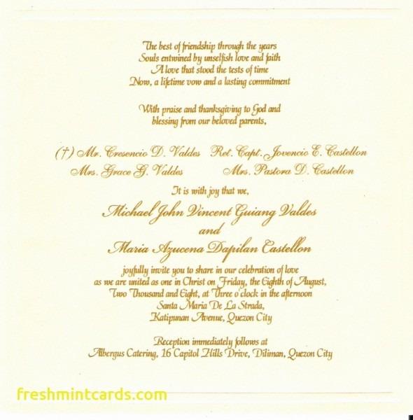 Spiritual Wedding Invitation Wording Best Of Christian Wedding