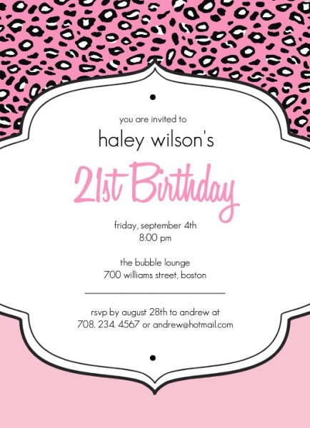 Invitation  21st Birthday Invitation Templates