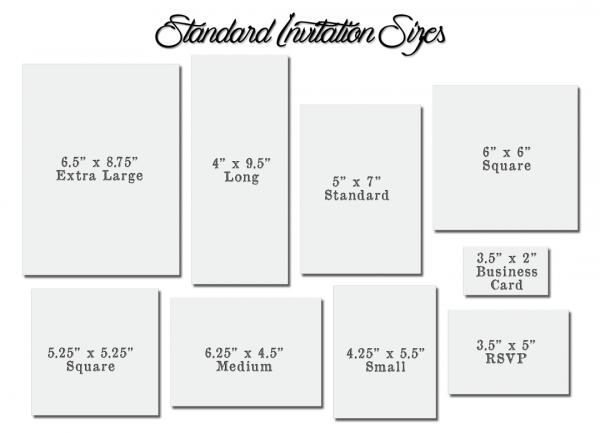 Standard Wedding Invitation Size