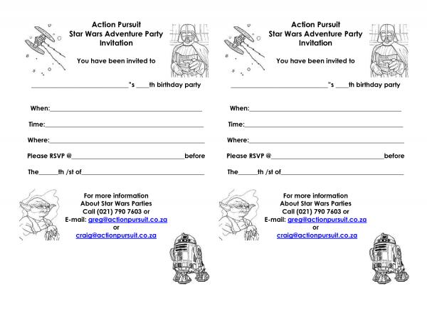 Best Star Wars Birthday Party Invitations Printable