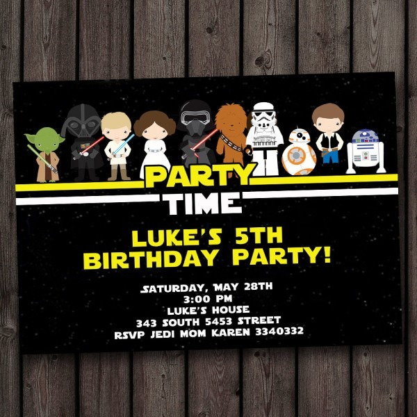 Star Wars Birthday Party Invitations Star Wars Birthday Party