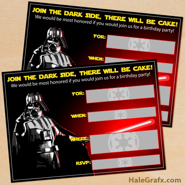 Star Wars Birthday Party Invitations Printable Cute With Star Wars