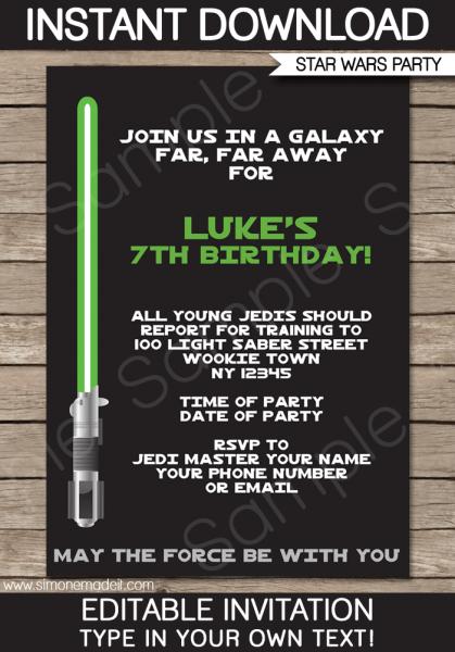 Star Wars Party Invitations Beautiful Star Wars Birthday