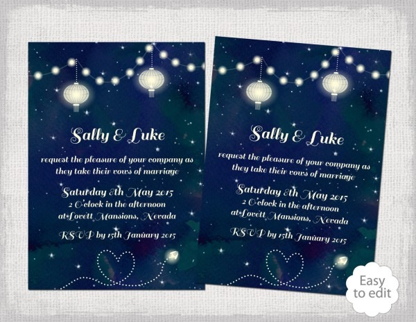 Starry Night Wedding Invitations Starry Night Wedding Invitations