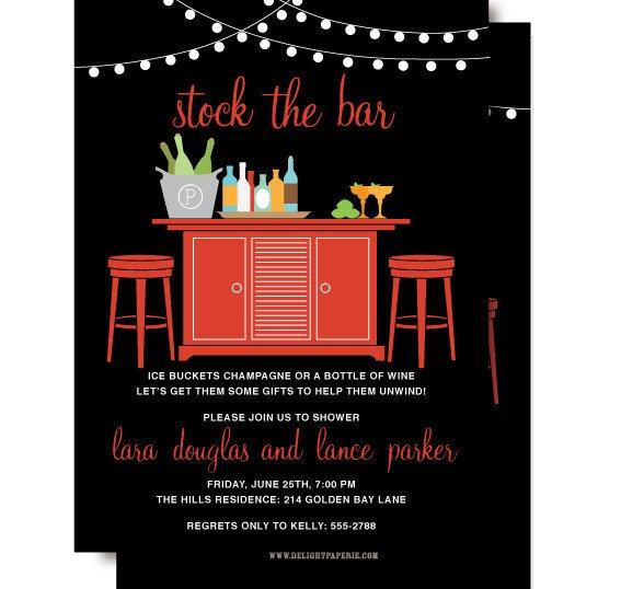 Invitation  Stock The Bar Party Invitations