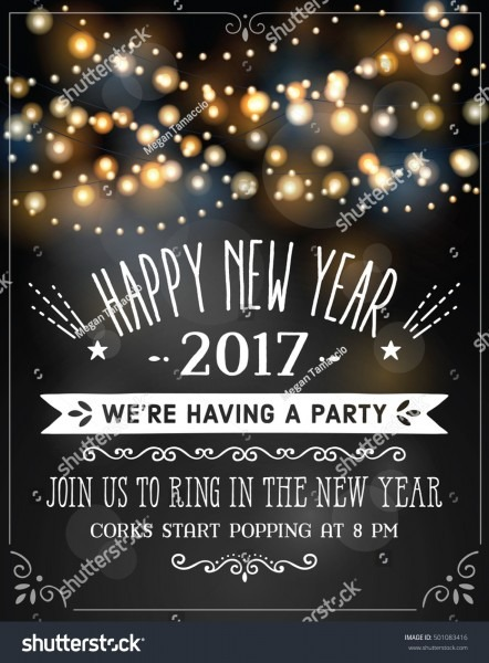 New Years Eve Invitation Over Party Stock Vector (royalty Free