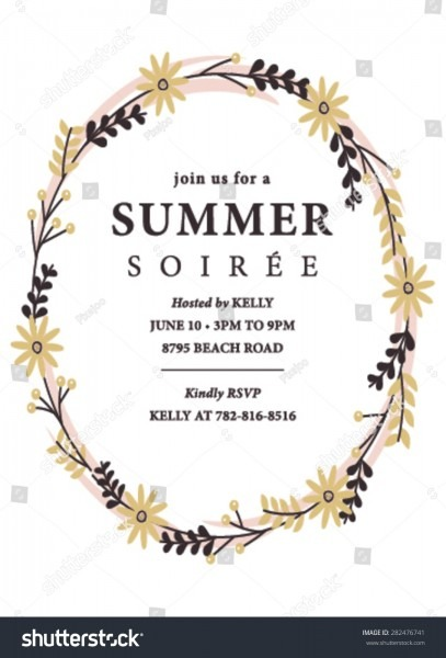 Summer Soiree Party Invitation Stock Vector (royalty Free