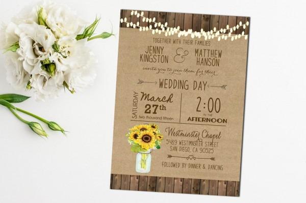 Best Sunflower Wedding Invitations