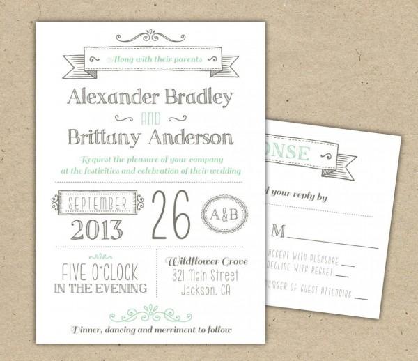 Wedding Ideas  Free Printable Wedding Invitation Templates