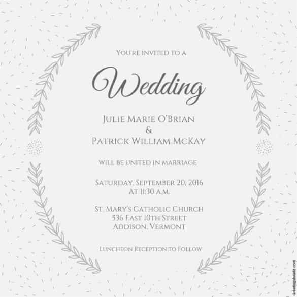 A C F Aa Caffb Rs Unique Wedding Invite Template