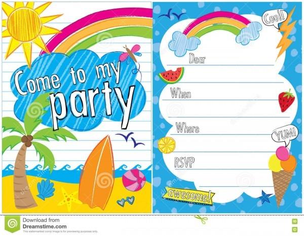 New Beach Ball Party Invitation