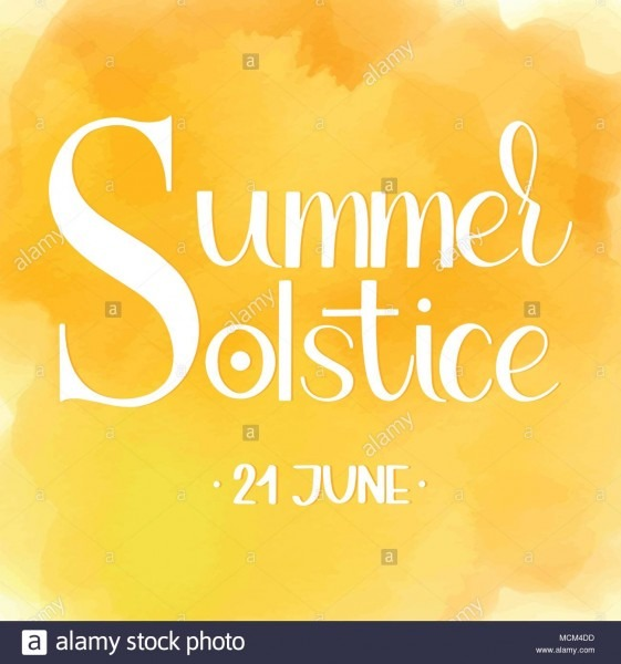 Summer Solstice Lettering  Elements For Invitations, Posters
