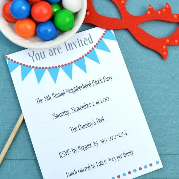 17 Free, Printable Birthday Invitations