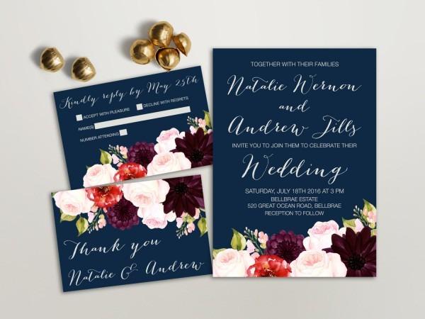 Super Blue Flowers Wedding Invitations 46 In Inspirational Wedding