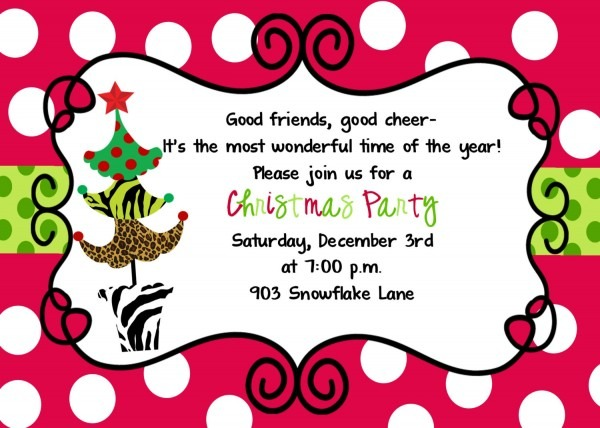 Invitation For A Christmas Party » Invitation Card Ideas