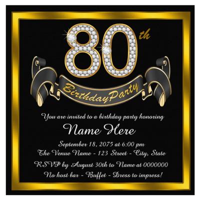 Surpri Superb Surprise 80th Birthday Party Invitations