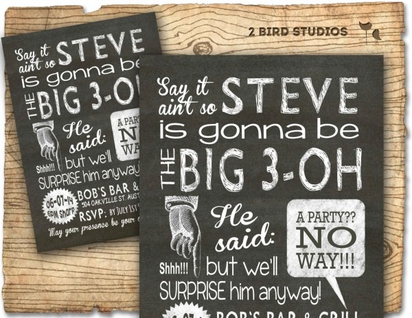 Surprise 30th Birthday Invitations For Him Cute With Surprise 30th