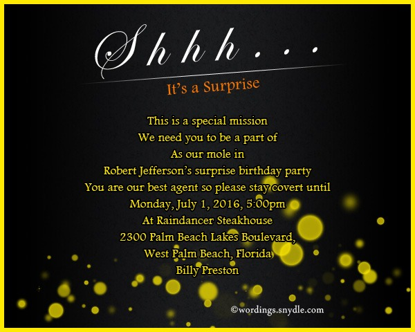 Th Birthday Party Invitation Wording Funny With Design Birthday