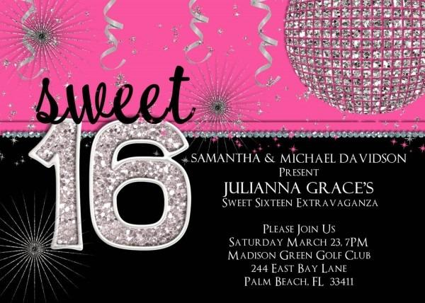 99+ Sweet 16 Birthday Invitations Wording