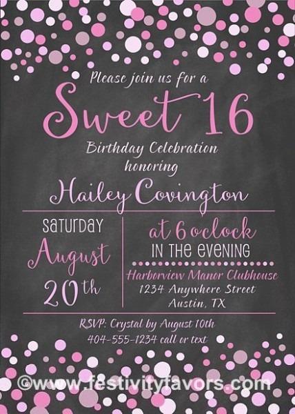 Superb 16th Birthday Party Invitations