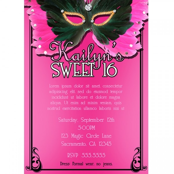 Sweet Sixteen Two Cool Sweet 16 Invitation Template