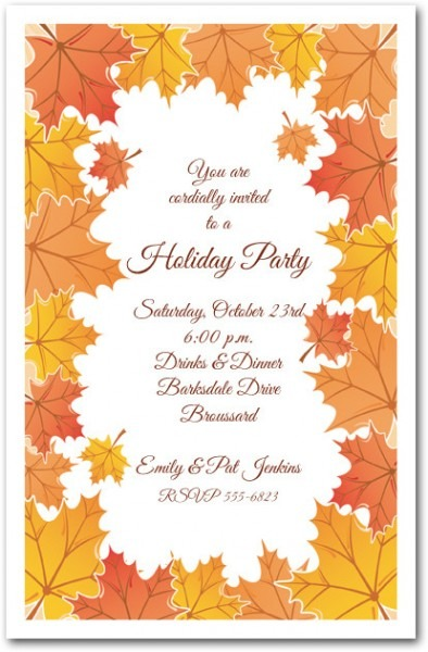 Fall Party Invitation Stunning Fall Party Invitations