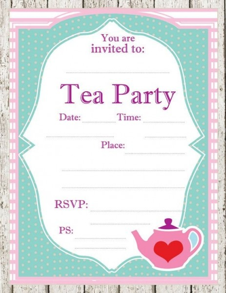 Nice Free Tea Party Invitations