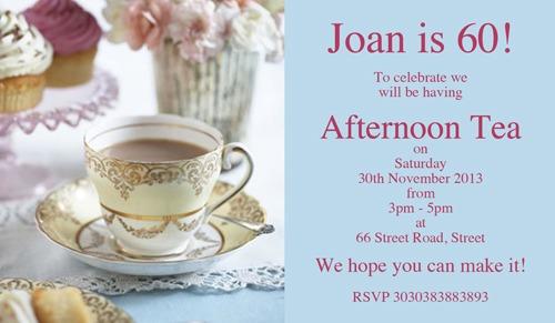 Tea Party Afternoon Tea Birthday Invitations P Spectacular Tea