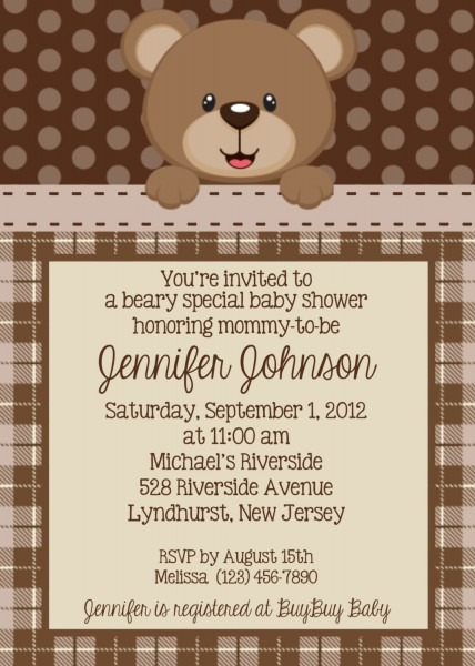 Teddy Bear Baby Shower Invitations Teddy Bear Baby Shower