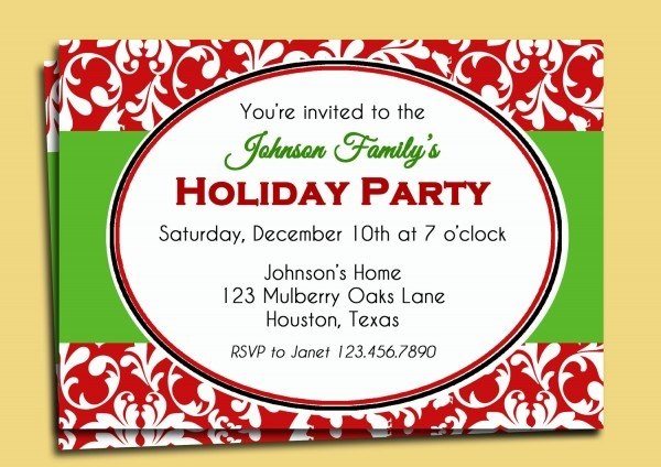 Template Exquisite Holiday Party Invitation Background Free