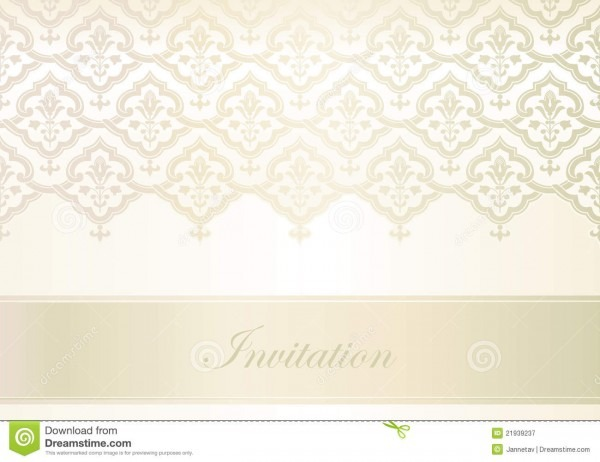 Template For Invitation Card Stock Vector