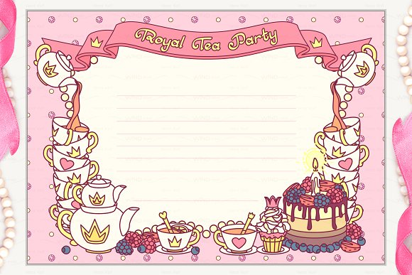 Invitation Ideas  Tea Party Invitation Template