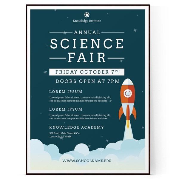Science Fair Flyer Template (psd + Docx)