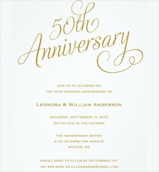Th Wedding Anniversary Invitations Free Template Image Geographics