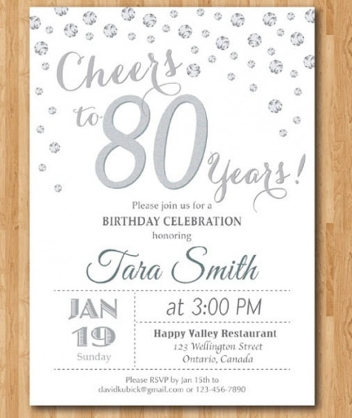 Th Birthday Invitations Ideal Birthday Invitations For 80 Year Old