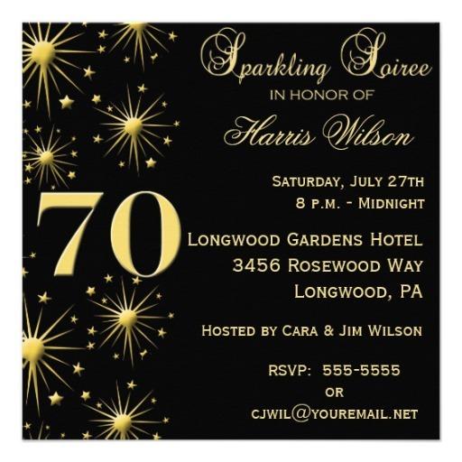 Invitation  70th Birthday Invitation Templates Free