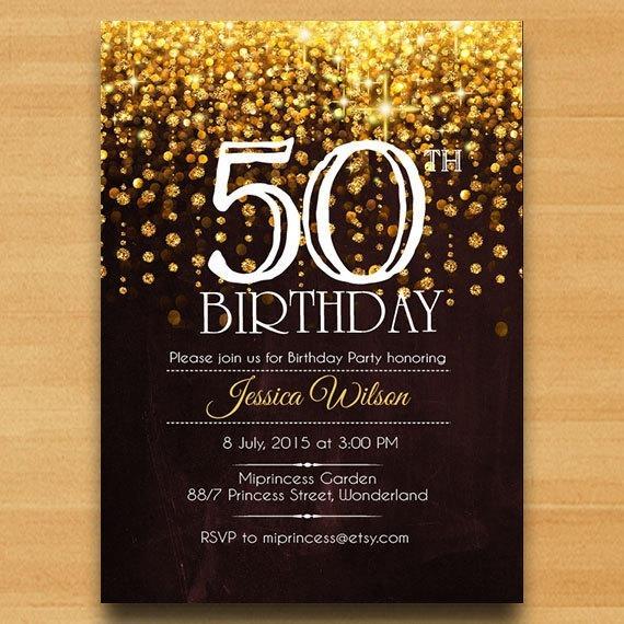 Acddfcacacc Unique 50th Birthday Invitation Templates