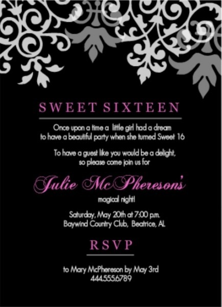 Pink Gold Faux Glitter Epic Sweet 16 Birthday Invitations