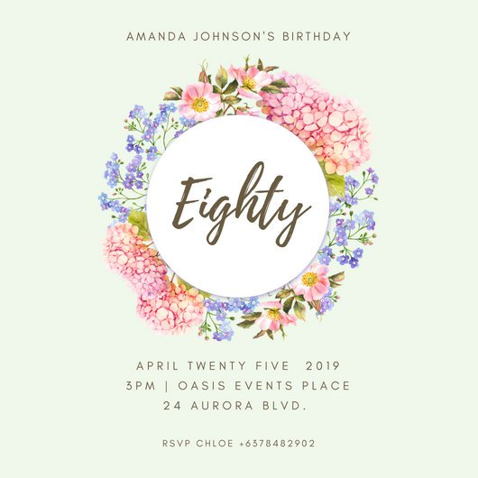 Th Birthday Luxury 80th Birthday Invitation