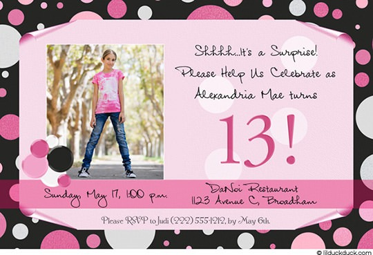 Invitation Ideas  13th Birthday Party Invitations Templates